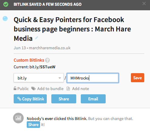 bitly custom link shortener